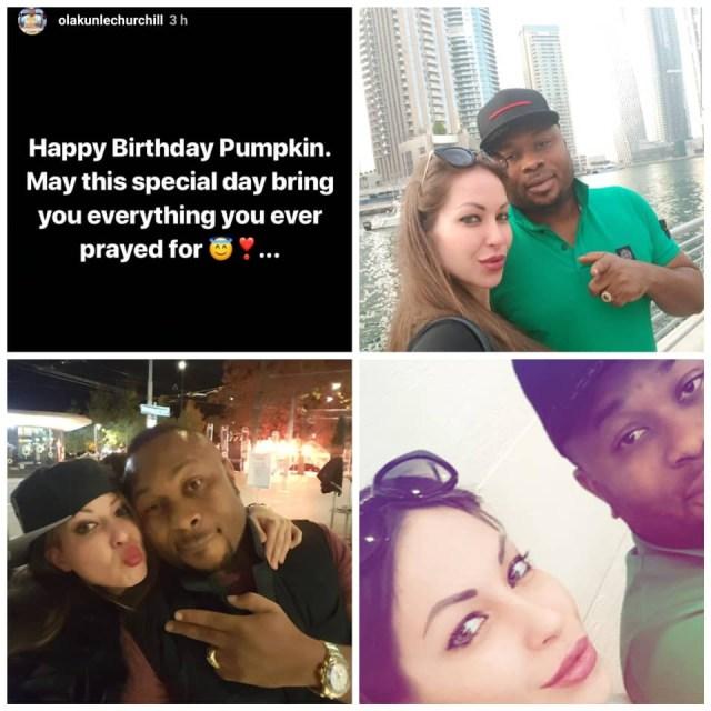 Olakunle Churchill wishes mystery Caucasian lady