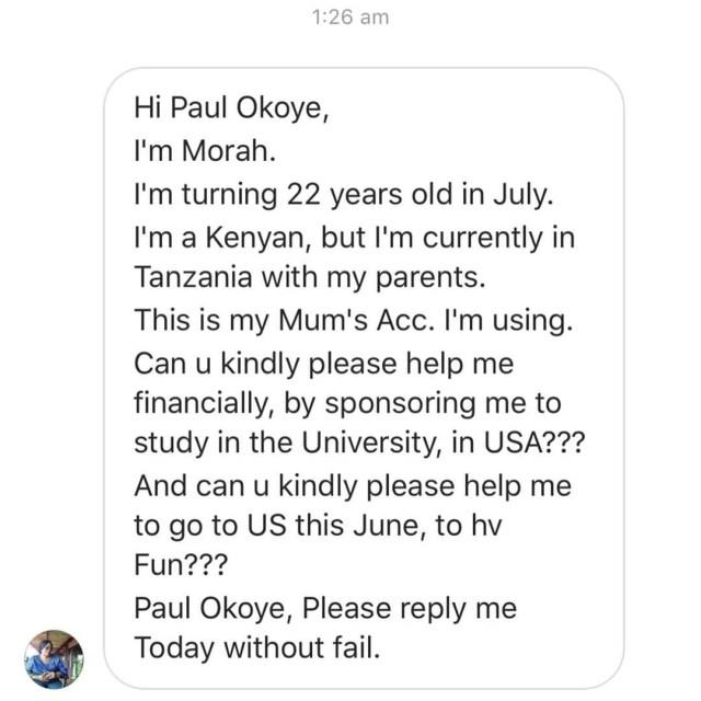 Paul Okoye shares screenshots