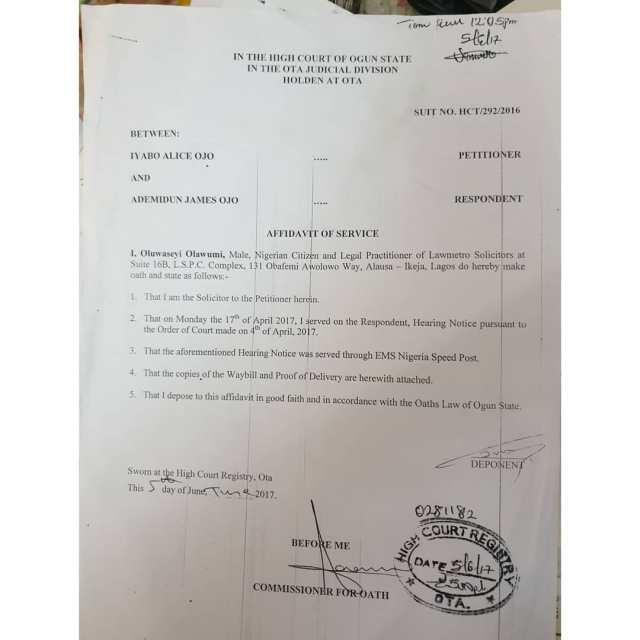 Iyabo Ojo shares wedding certificate