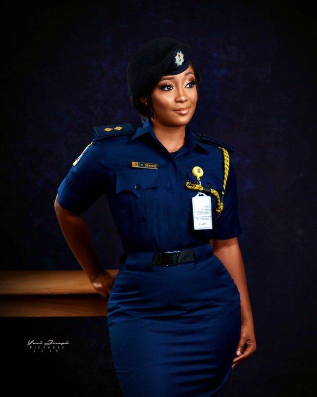 Stunning Nigerian female firefighter