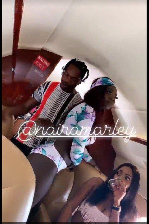 Naira-Marley-Parties-0 Naira Marley parties with bikini-clad babes inside Regina daniels husband private jet