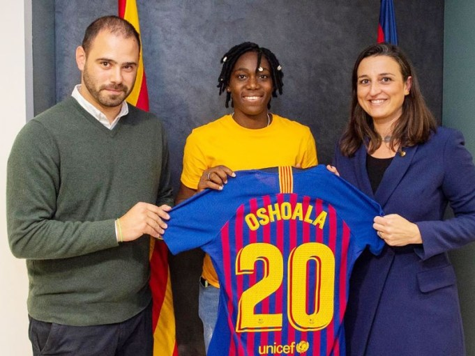 Asisat Oshoala Signs Permanent Contract For Barcelona Ladies Till 2022