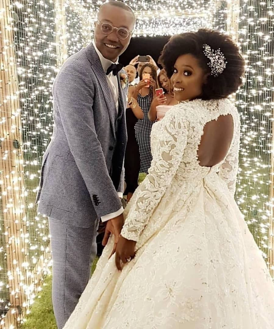 Photos from the white wedding of media mogul, Mo Abudu's daughter to billionaire son, Adebola Makanjuola – News