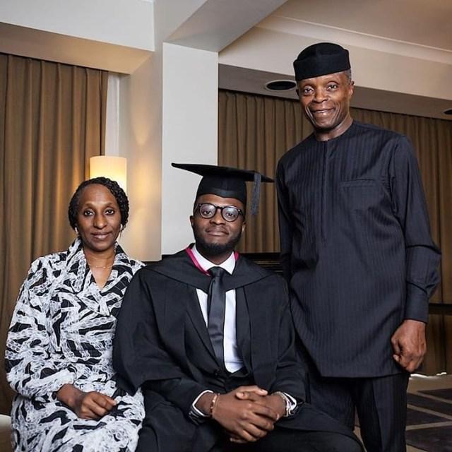 Yemi Osinbajo son graduates