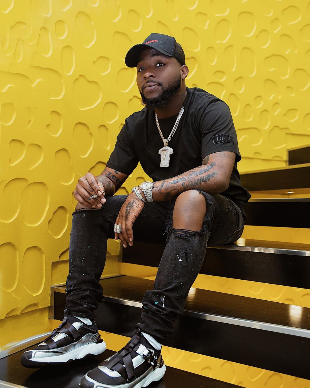 Parts of Davido's father's house gutted by fire