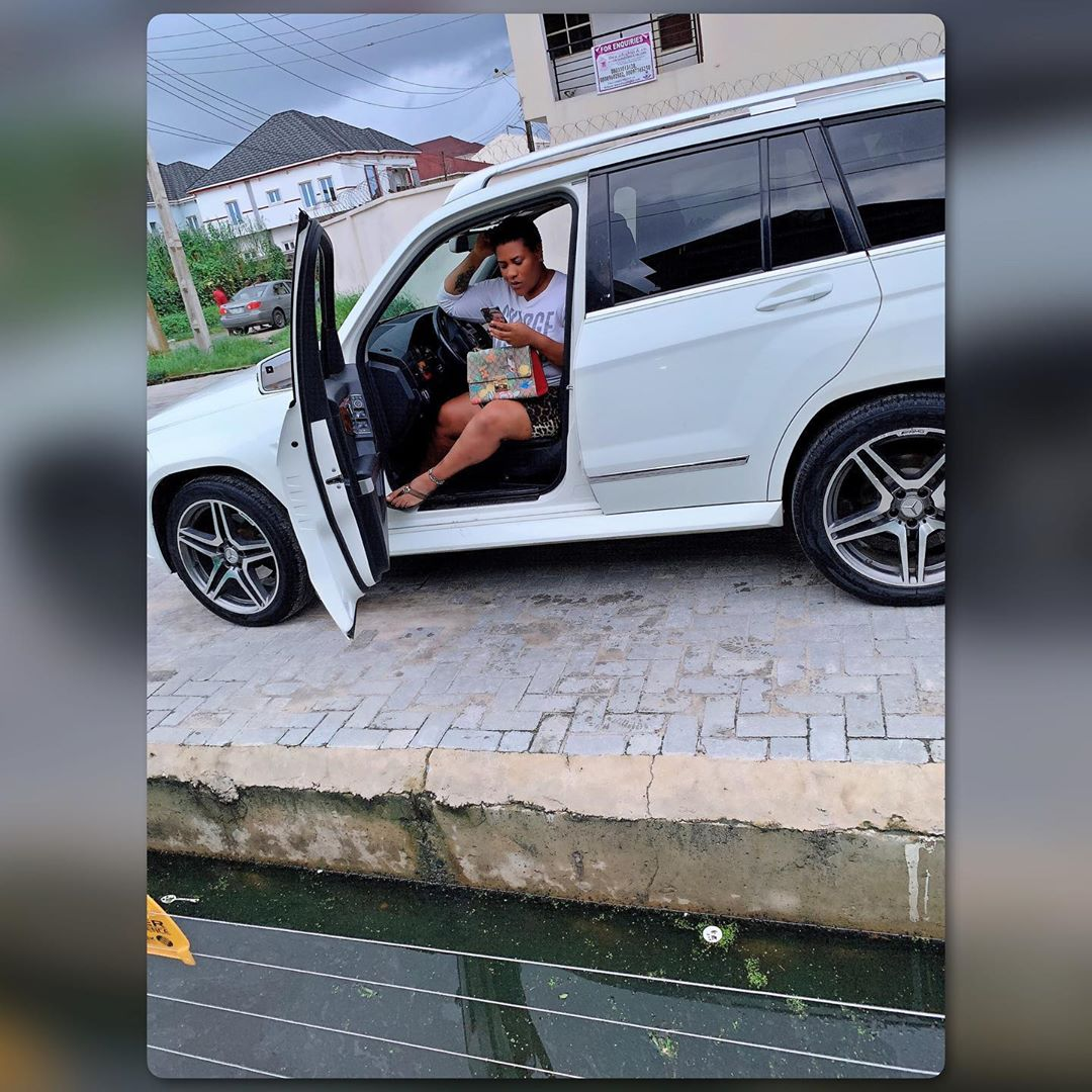 Nkechi Blessing Sunday reacts after she gets busted over allegedly buying brand new Benz (Photos)