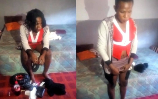 Police officer takes prostitute home from Abuja club, finds out 'she's' a man wearing female outfit (video)