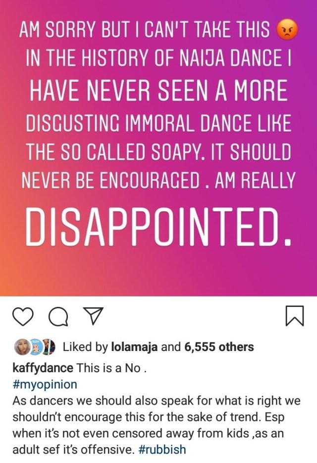 soapy - Kaffy condemns Naira Marley's latest dance, soapy and Naira Marley reacts