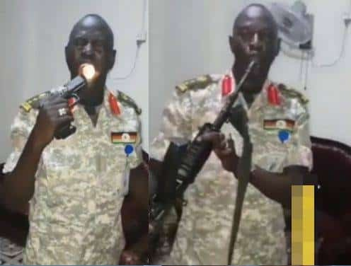 Soldier Fires Gun Bullet Into His Mouth To Put Test If His Charm Is Working