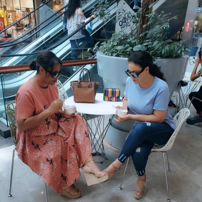 Nadia Buari And Her Beautiful Mom Hajia Enjoy Ice Cream Date (IMAGES)