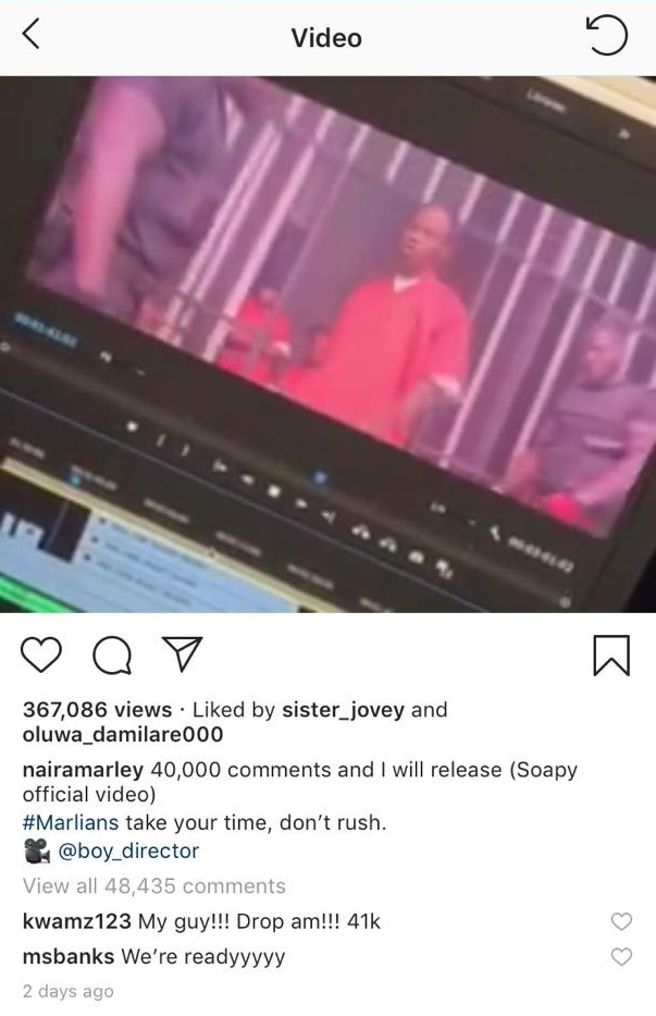 3f7e0c80bb005 Naira Marley breaks Instagram record in Africa with over 40,000 ...