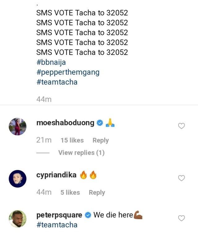 #BBNaija: 'If Tacha no win, I will give her the money' – Peter Okoye says (video) 5