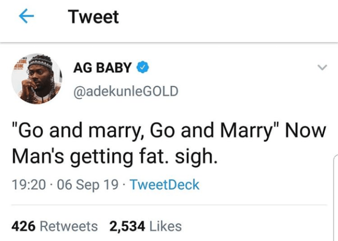 Adekunle Gold cries out