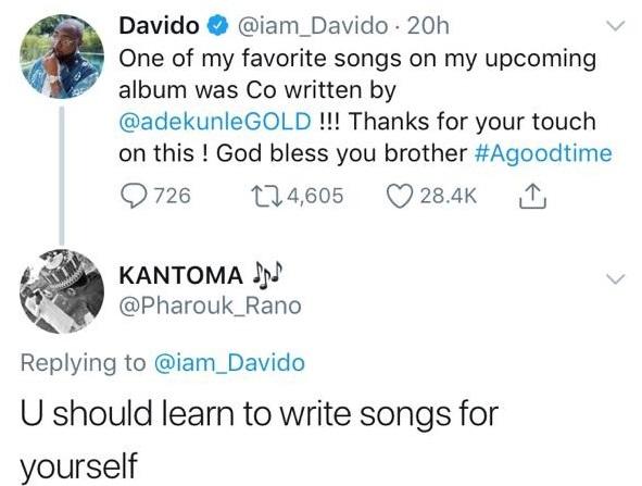 Davido Hails Wizkid