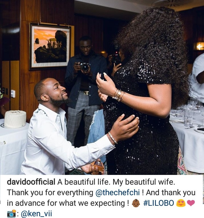 """A beautiful life. My beautiful wife"" – Davido says, thanking Chioma for everything 1"