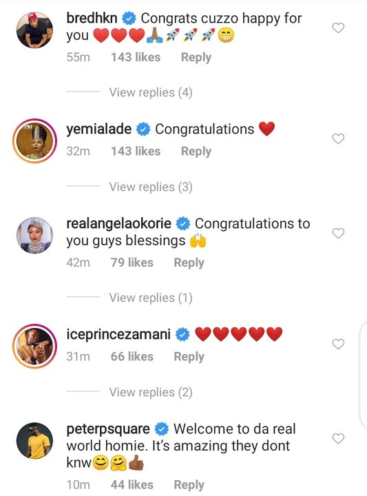 Wizkid's Baby Mama, Tiwa Savage, other celebrities congratulate Davido on marriage Proposal 6