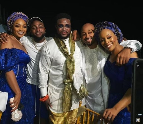 Davido Storms Brother, Adewale Adeleke's Wedding In Calabar