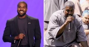 Kanye West taking
