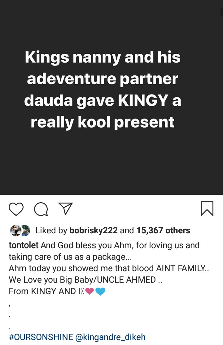 """""""Blood ain't family"""" – Tonto Dikeh thanks her """"big baby"""" for being there on her son's birthday 3"""