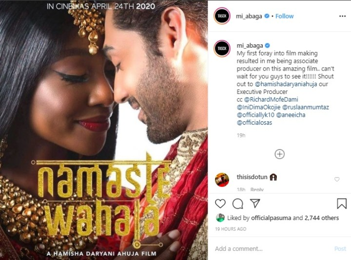 MI Abaga Goes Into Film Making As He Produces His First Bollywood/Nollywood Movie