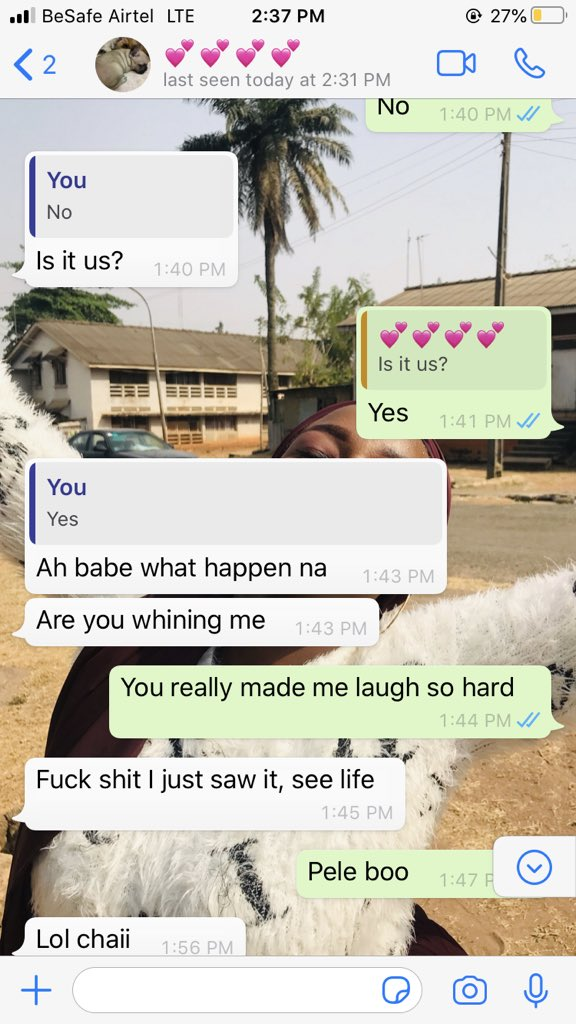 """Hilarious screenshots of people pranking their partners by saying they need a """"two-weeks"""" break 12"""