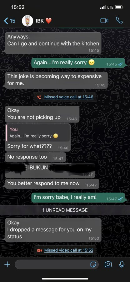 """Hilarious screenshots of people pranking their partners by saying they need a """"two-weeks"""" break 27"""