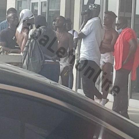 Three grown men seen wearing diapers at a mall in Lekki, Lagos (Video)