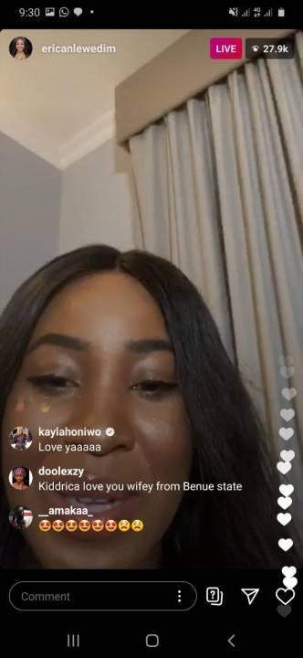 Erica's Instagram live