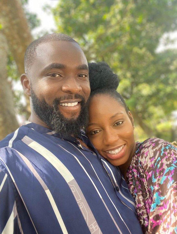 Gedoni welcomes fiancée, Khafi as she arrives Nigeria from London (Video)