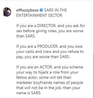 """nollywood - """"We Need To Also Cleanse The Entertainment Sector Like The Police Reform"""" – Actress, Ani Amatosero Cries Out Ama"""