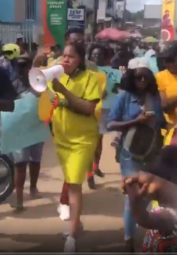 Toyin Abraham joins protest