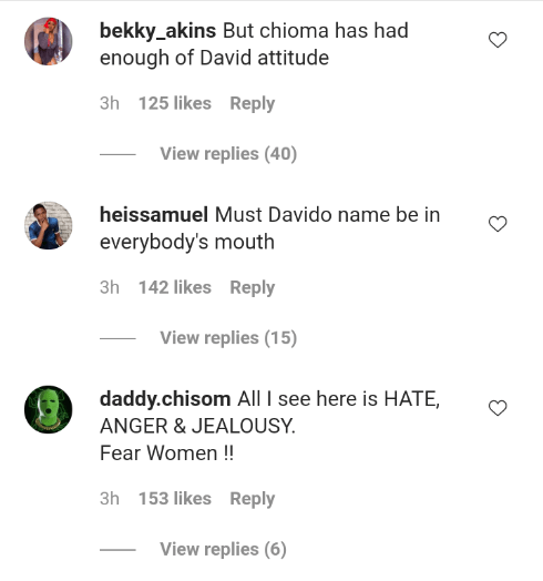"""Chioma has had enough of Davido's attitude"" – Nigerians reacts to Kenza, Eva saga 4"