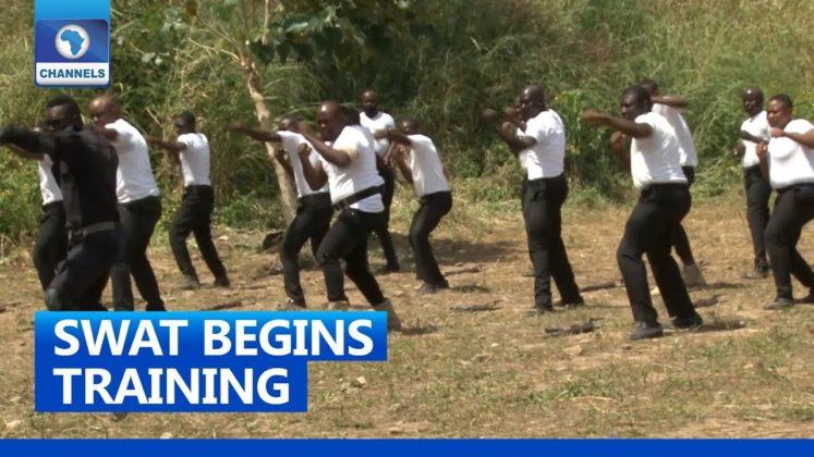 New Nigerian Police Unit, SWAT begins Taichi kungfu training (Watch Video)