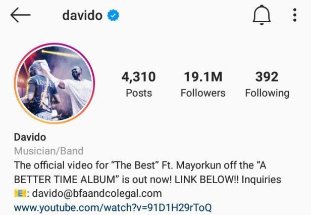 Davido becomes