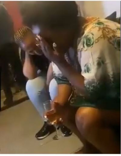 Video: Ladies captured praying and speaking in tongues during an in-house party