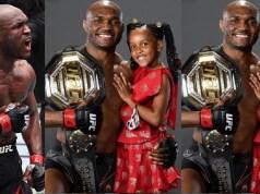 Kamaru Usman and his daughter