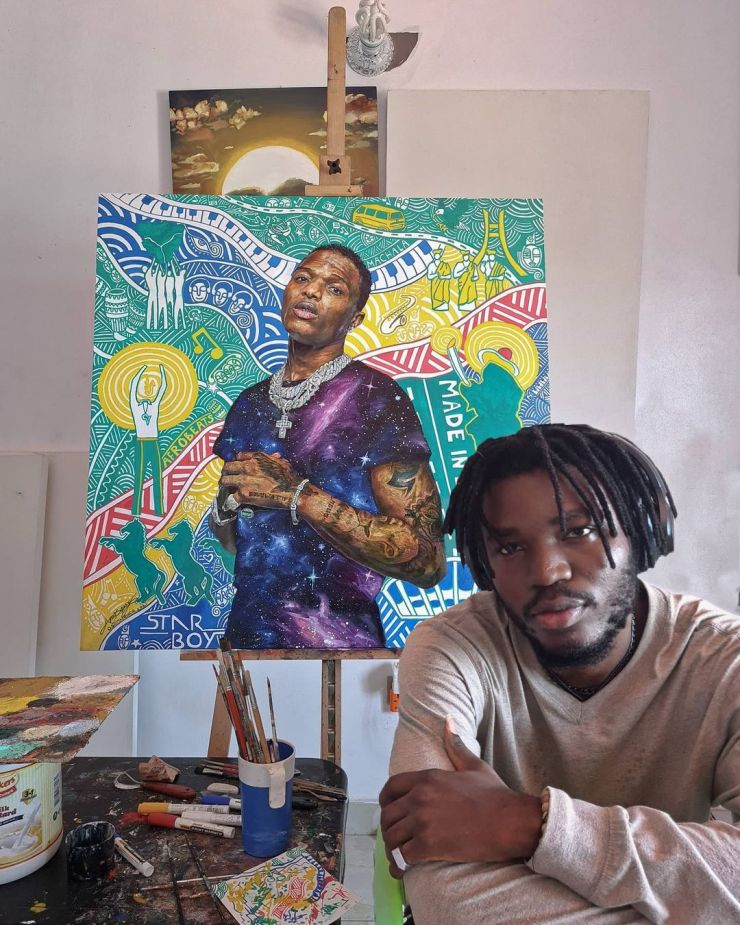 Wizkid acknowledges portrait