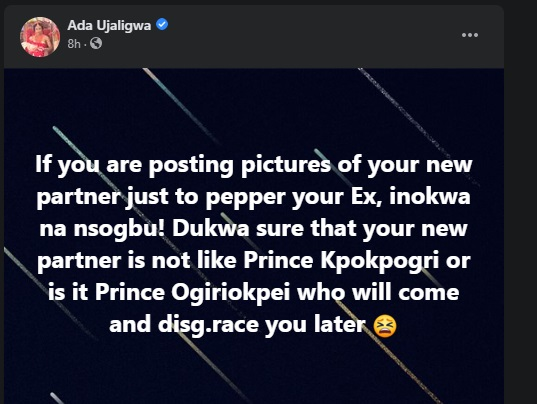 If you are posting your partner's picture to 'pepper' your ex make sure he's not like Prince KpoKpogri - Media personality Ujaligwa