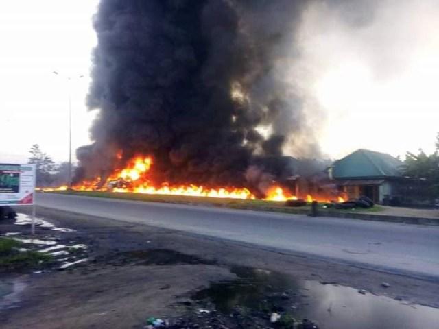 petrol tankers explode