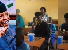 Yemi Osinbajo eating