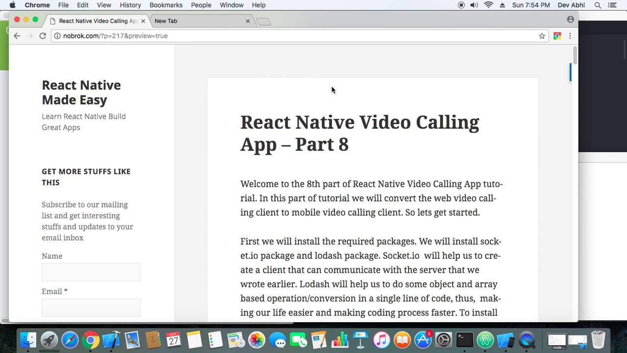 React Native Video Calling App Demo - 8. Bölüm