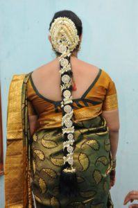 South Indian wedding hairstyles for Long Hair