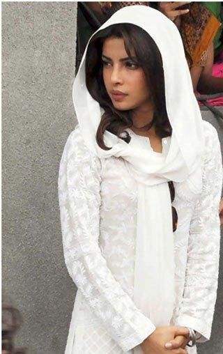 Priyanka Chopra looks in White Dress