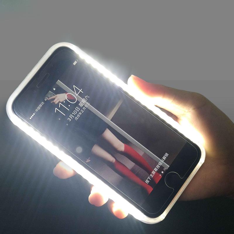 Coque de téléphone lumineuse pour iPhone 7 8plus 11 X XS 11Pro Max ...