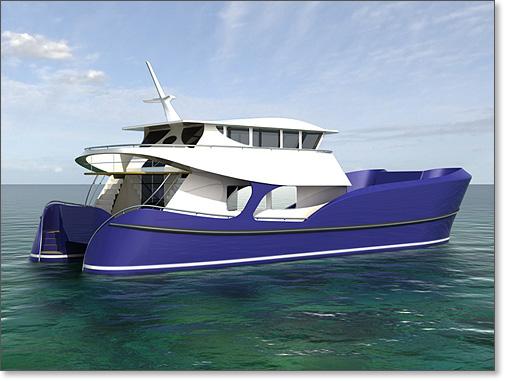 Yacht Design 68 Catamaran Trawler