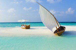 Boat on a beautiful beach