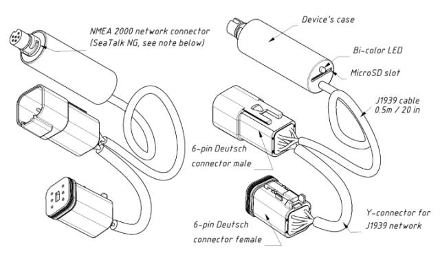 Drawing of Engine Gateway YDEG-04