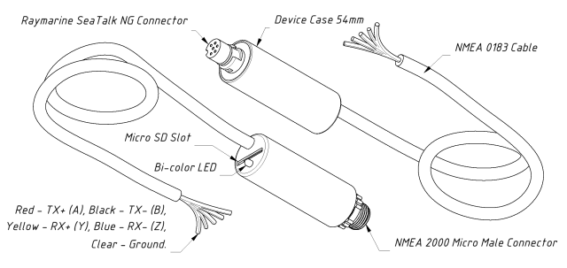 Drawing of YDNG-03N (left) and YDNG-03R (right) models of Gateway