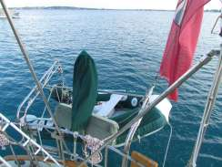 The amazing improved dinghy davits