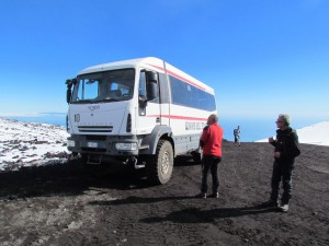 The 4WD volcano bus
